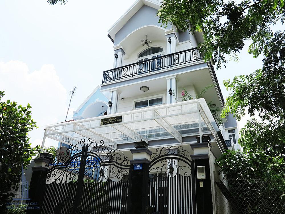 Mẫu biệt thự bán cổ điển 3 tầng do Phan Kiến Phát thi công tại Q9