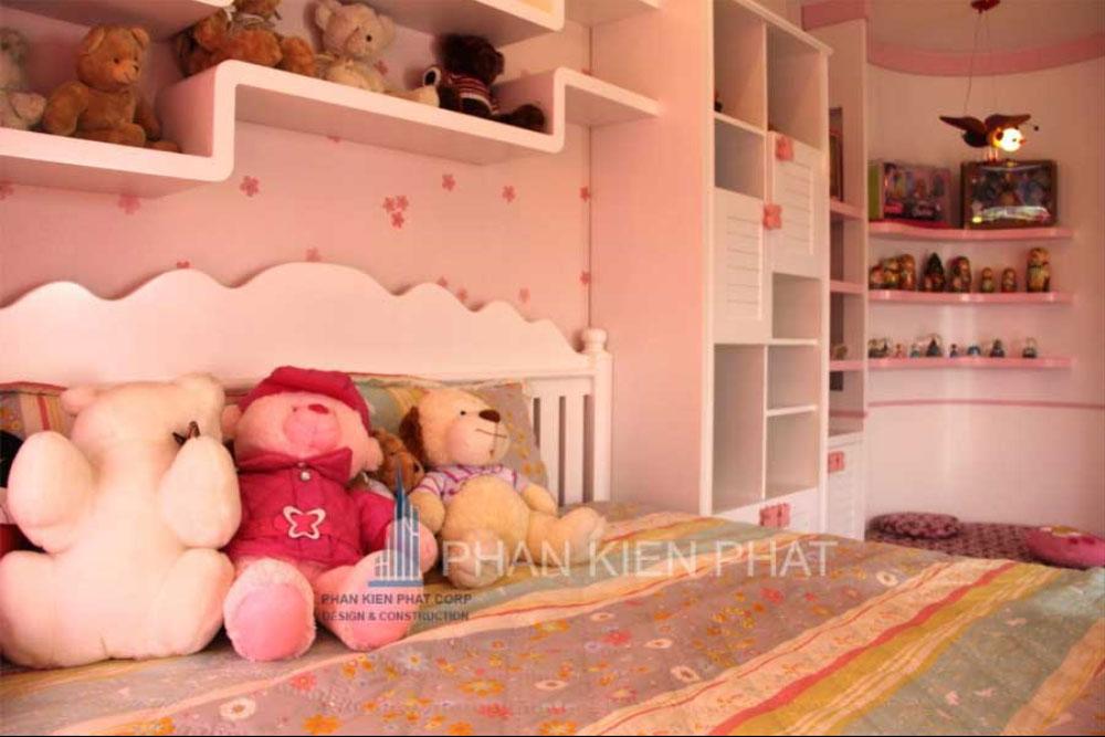Phòng ngủ con gái của biệt thự mini 3 tầng góc view 4