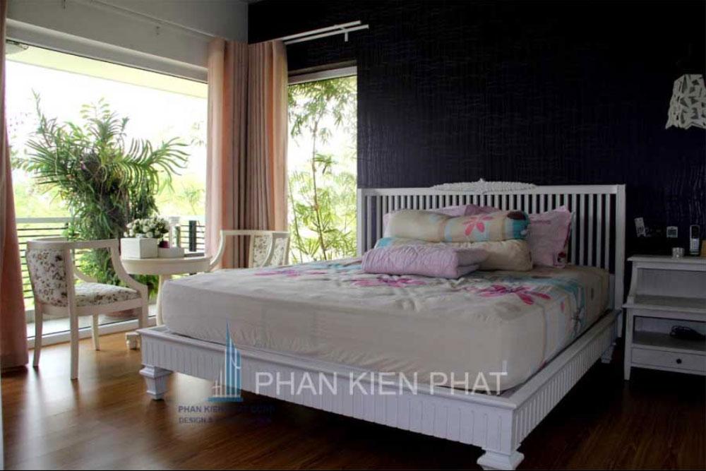 Phòng ngủ master biệt thự mini 3 tầng tại quận 7 góc view thực tế 4