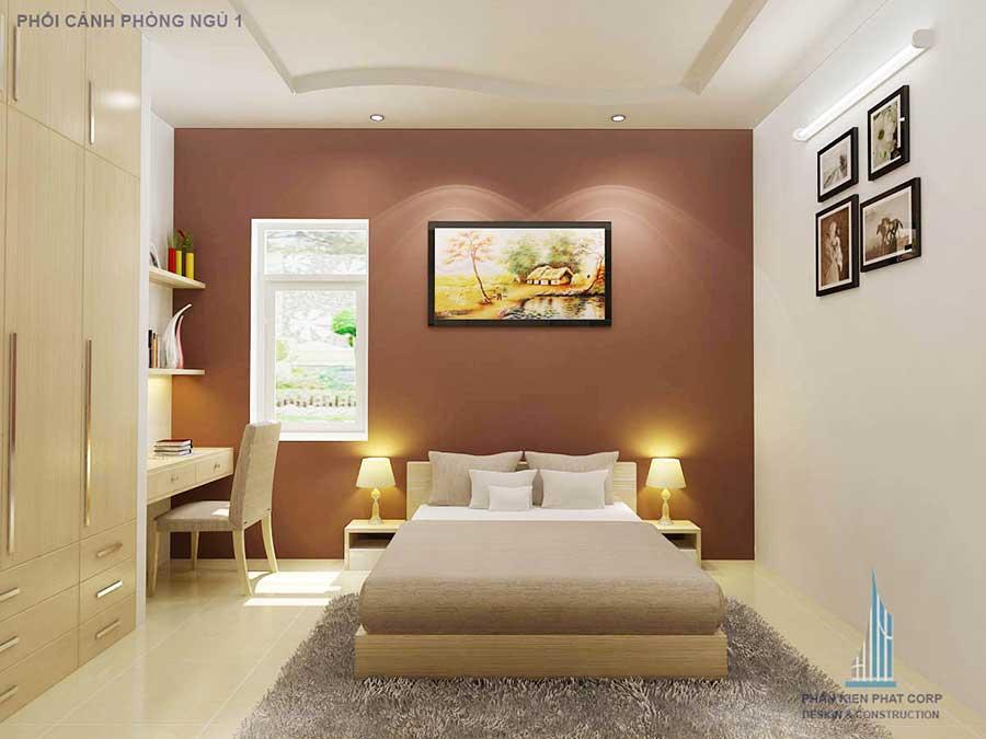 Biệt thự 2 tầng - Phòng ngủ 1 góc 2