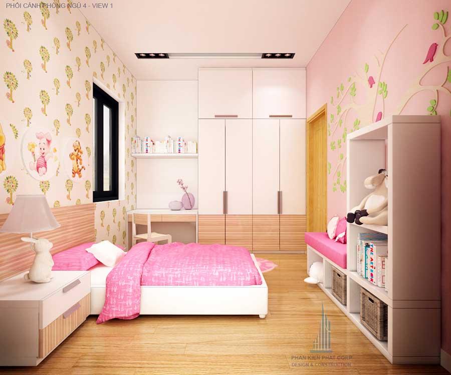 Thiết kế biệt thự hiện đại - Phòng ngủ 4 góc 1