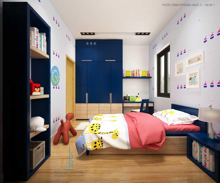Biệt thự biệt thự hiện đại - Phòng ngủ 5 góc 1