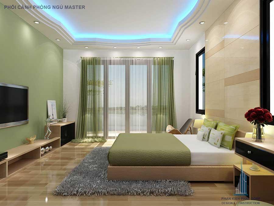Phối cảnh phòng ngủ Master góc 2