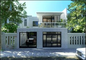 - Two-floor Villa with flat-roof