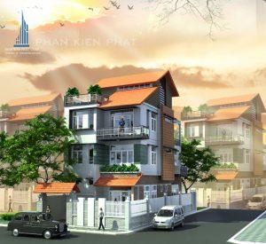 - Four-floor Modern Villa with two-facade