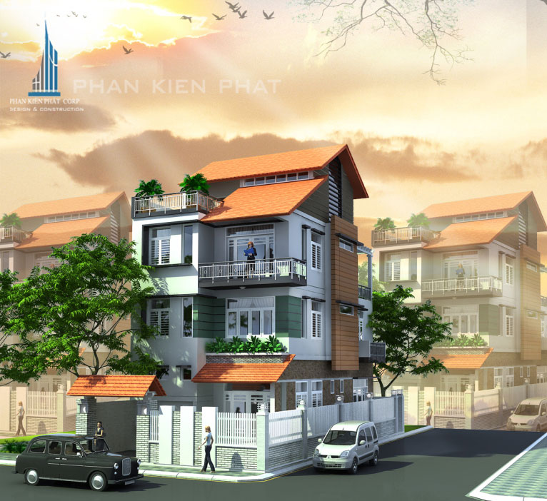 biet-thu-pho, biet-thu-hien-dai - Biệt Thự hiện đại 4 Tầng 2 Mặt Tiền
