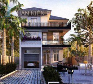 - Three - floor villa with garden view