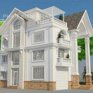 thiết kế biệt thự 3 tầngcổ điển Bình Phước