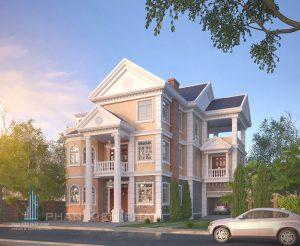 - Three-floor Classical villa