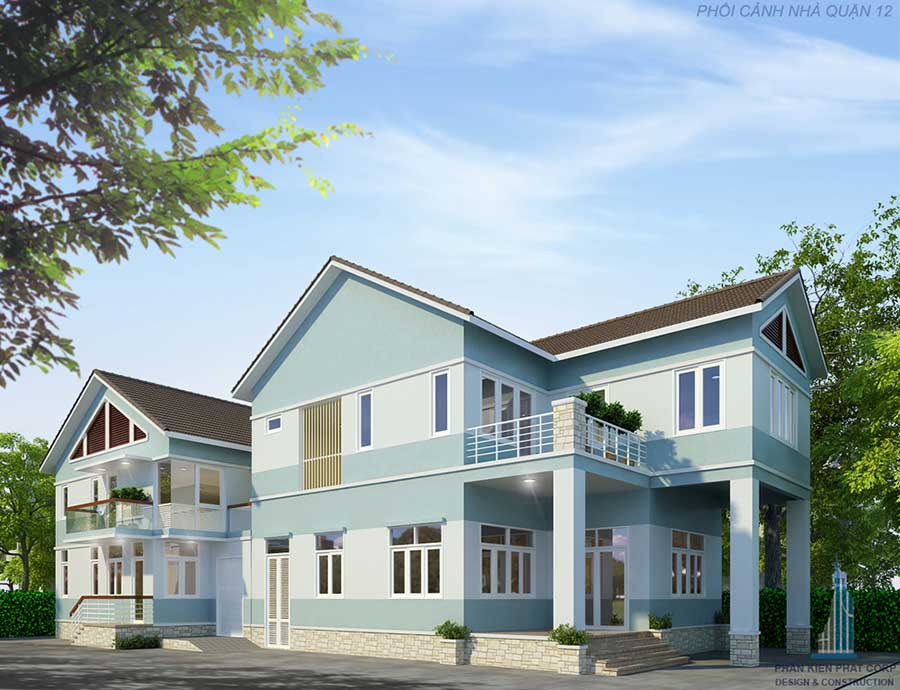 biet-thu-hien-dai - Biệt thự hiện đại2 tầng mái xéo