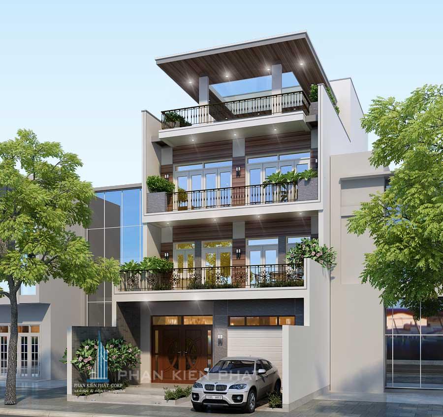 biet-thu-pho, biet-thu-hien-dai - Biệt thự phố 4 tầng tại Tân Phú