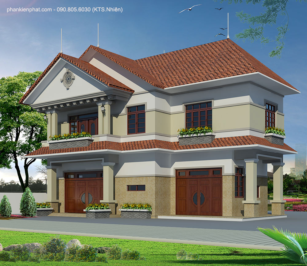 - Two-floor Villa with Thai-style roof tại Gò Vấp