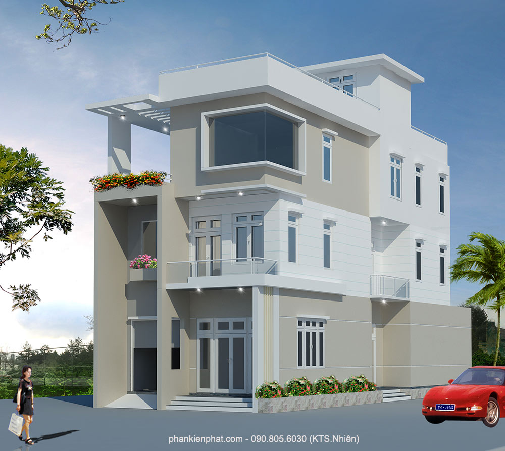 - Three floor Town Villa at Go Vap district