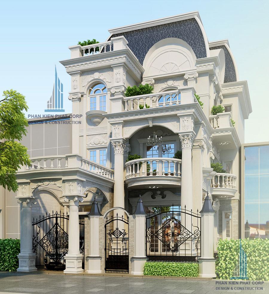 biet-thu-co-dien - Biệt thự cổ điển lâu đài kiểu Pháp