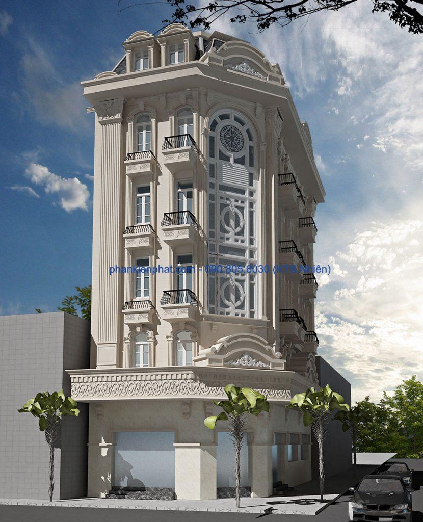 Biệt thự cổ điển kiểu Pháp 16.4x7.6m