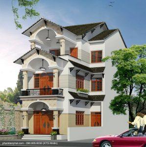 - Three floor mini L shape villa