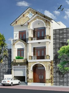 - Town villa with both modern and classic mixing style