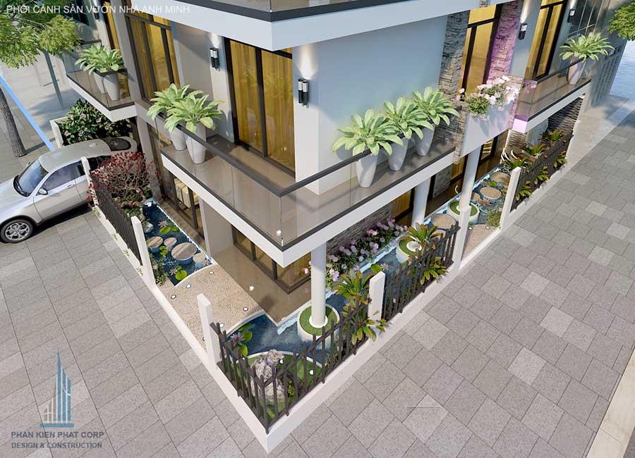 Thiết kế biệt thự 3 tầng - Mặt tiền góc 4