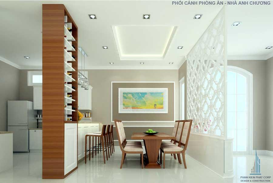 Thiết kế biệt thự cổ điển - Phòng ăn