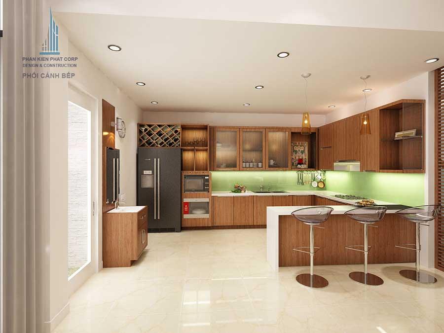 Thiết kế biệt thự hiện đại - Phòng bếp góc 1