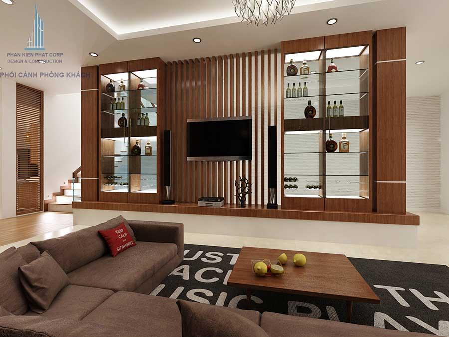 Biệt thự hiện đại - Phòng khách góc 3