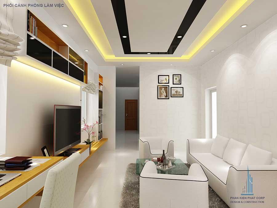 Thiết kế biệt thự - Phòng làm việc góc 1