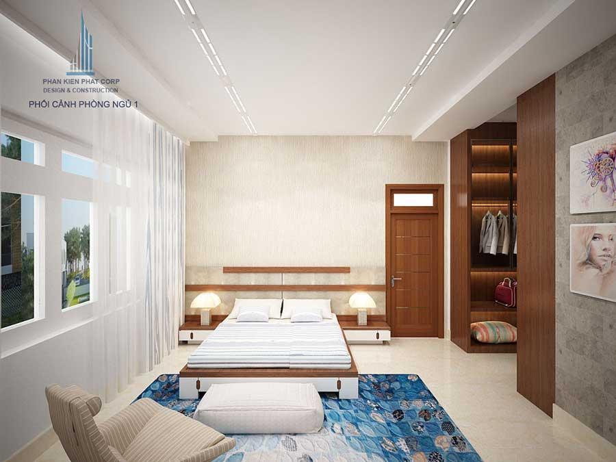 Thiết kế biệt thự 3 tầng - Phòng ngủ 1