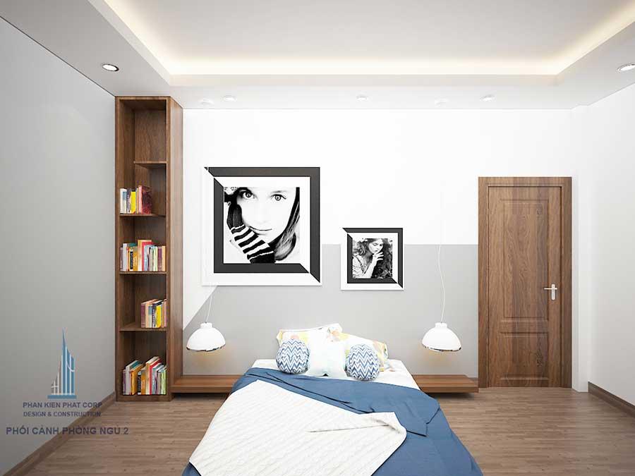 Biệt thự hiện đại - Phòng ngủ 2 góc 1