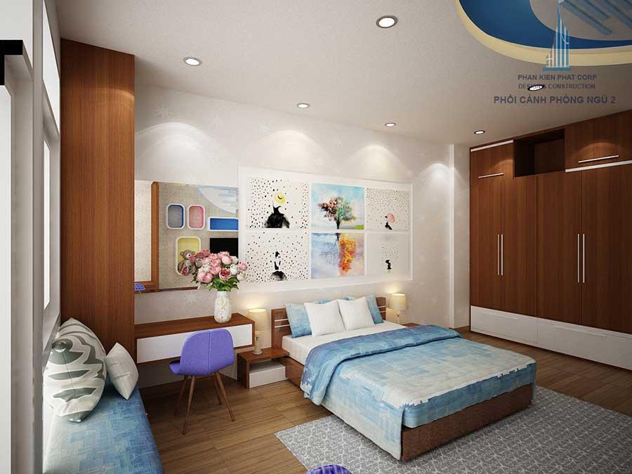 Thiết kế biệt thự -Phòng ngủ 2 góc 2