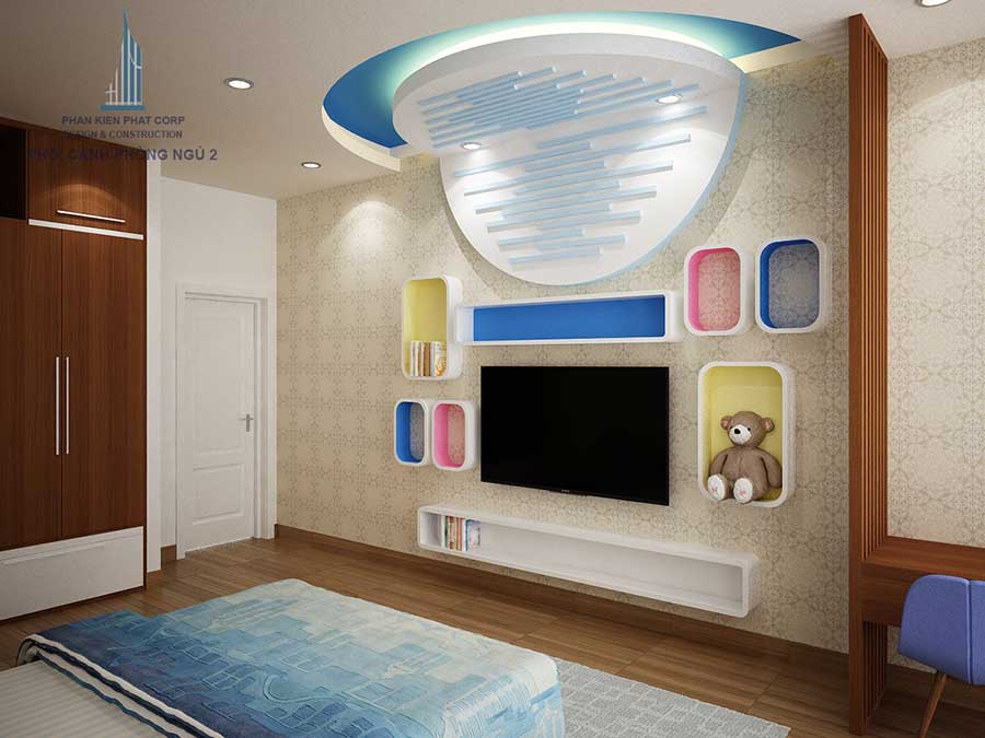 Thiết kế biệt thự hiện đại - Phòng ngủ 2 góc 3