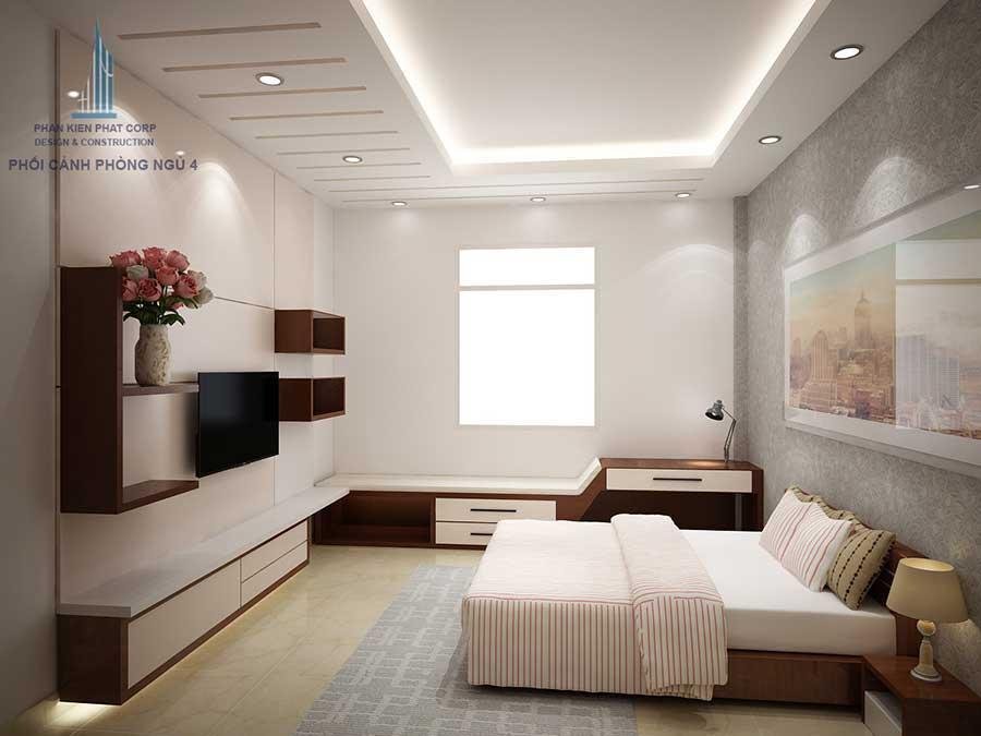 Biệt thự hiện đại - Phòng ngủ 3 góc 1
