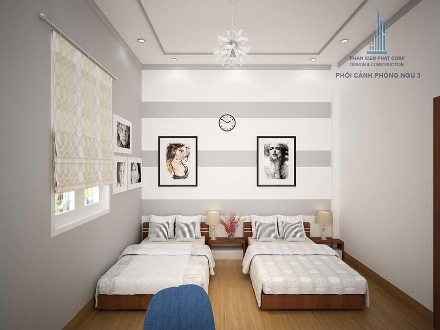 Thiết kế biệt thự cấp 4 - Phòng ngủ 3 góc 2