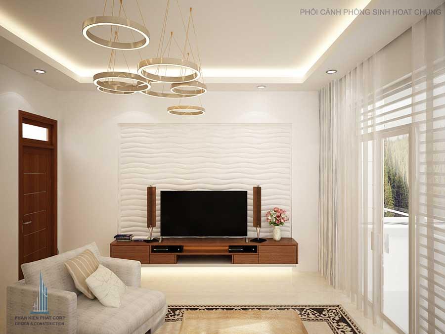 Thiết kế biệt thự 3 tầng - Phòng sinh hoạt chung