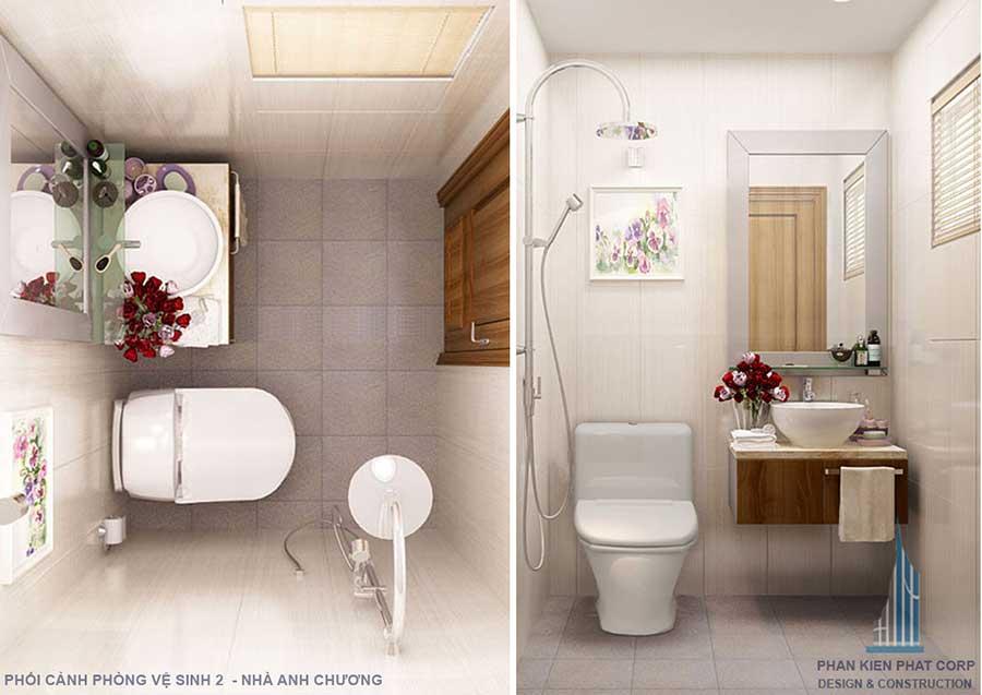 Phối cảnh phòng vệ sinh 1