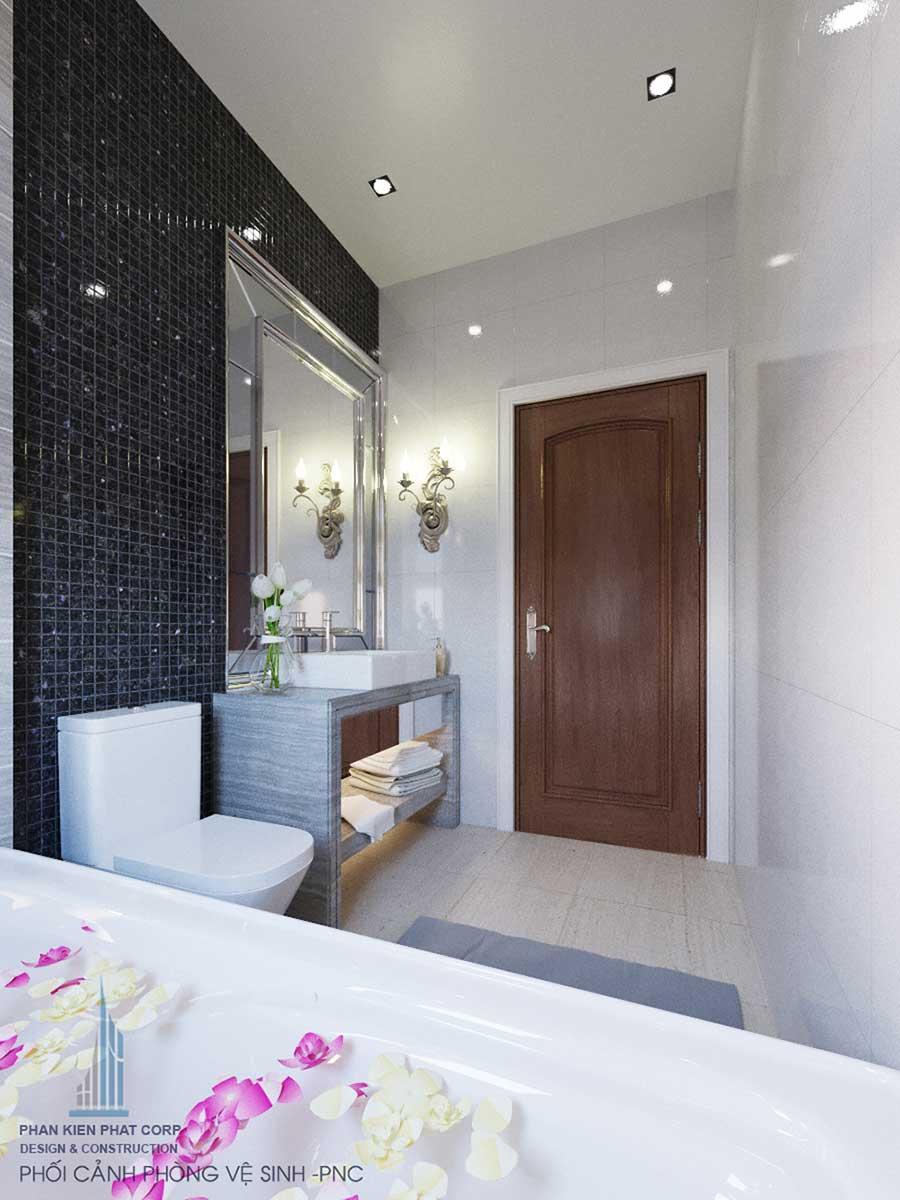 Biệt thự bán cổ điển - Phòng vệ sinh 1 góc 2