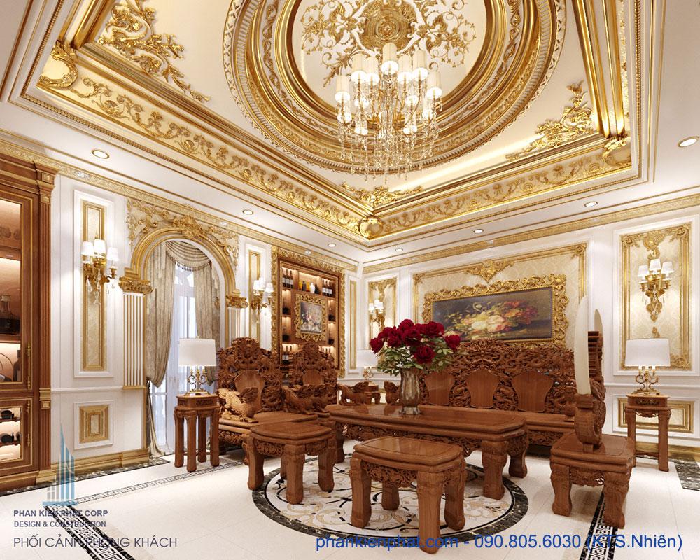 Phòng khách view 4 biệt thự hoàng gia