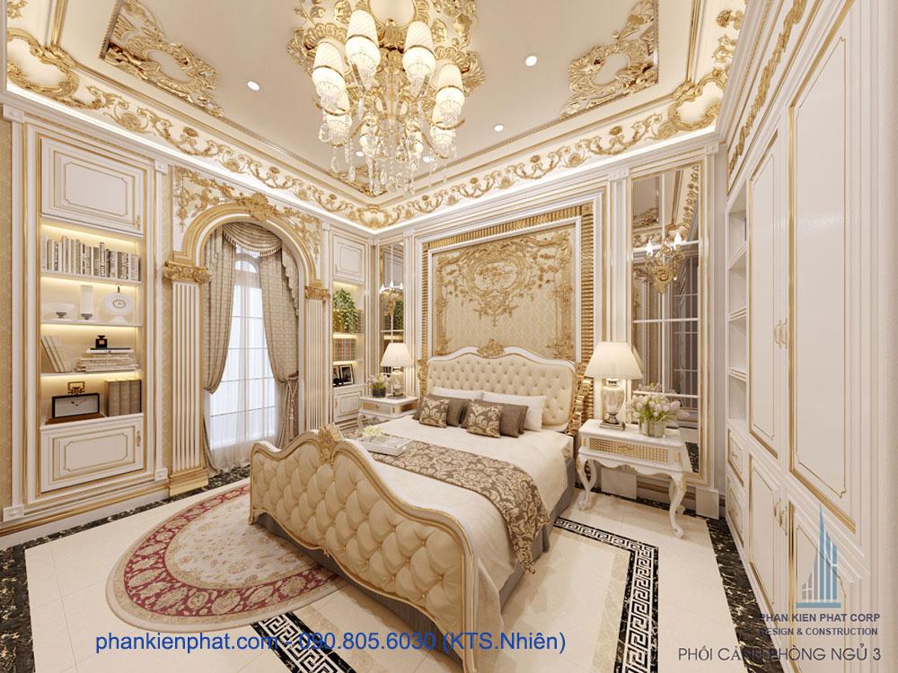 Phòng ngủ 1 view 4 biệt thự 13x20m cổ điển