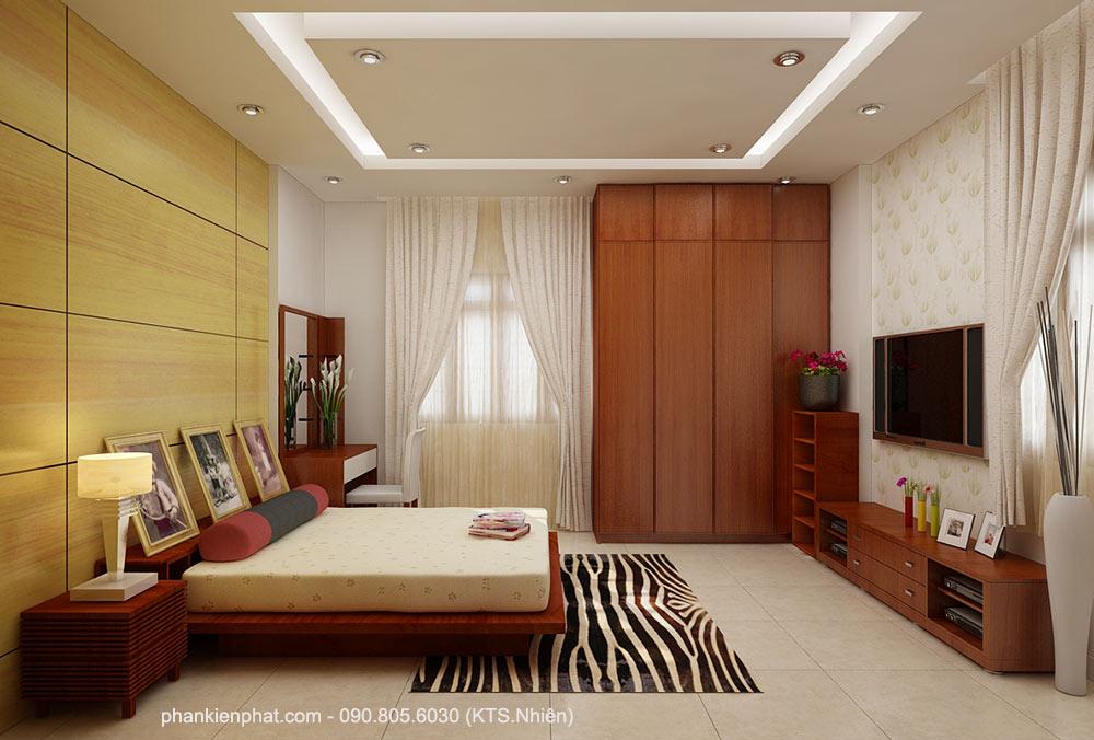 Phòng ngủ 1 view 1 biệt thự bán cổ điển 2 tầng