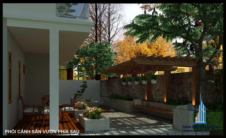 biet-thu-vuon, biet-thu-pho, biet-thu-hien-dai - Biệt thự hiện đại sân vườn mái lệch