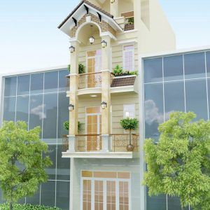 Thiết kế nhà phố bán cổ điển 3 tầng