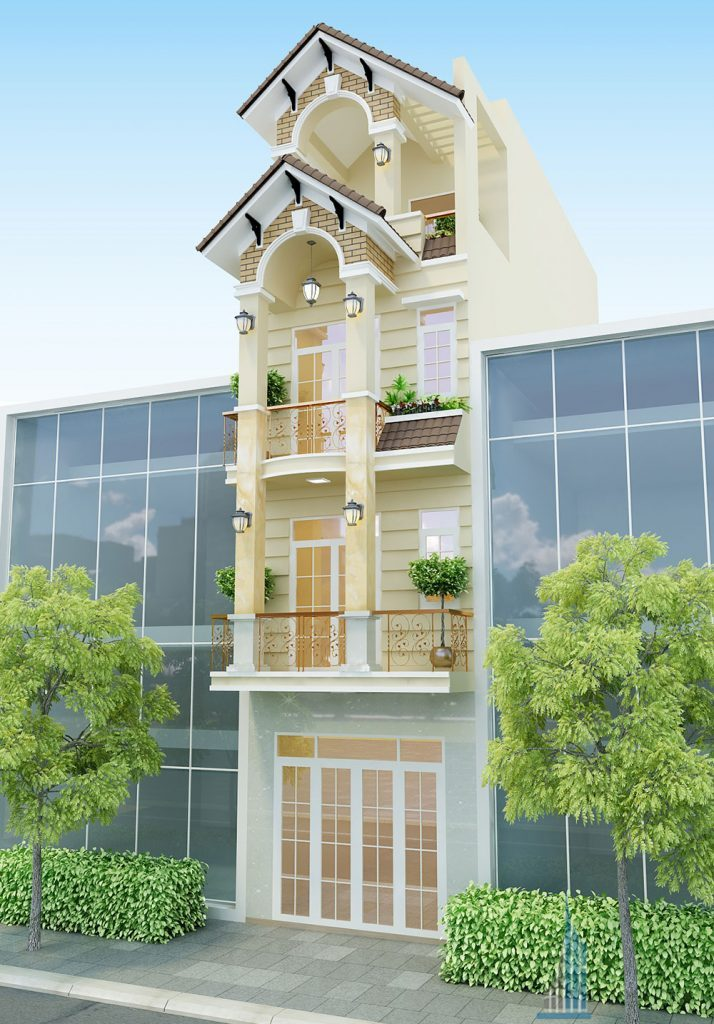 - Design the classic three-floor of townhouse