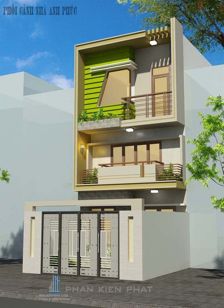 - A design of the modern two-floor TOWN HOUSE