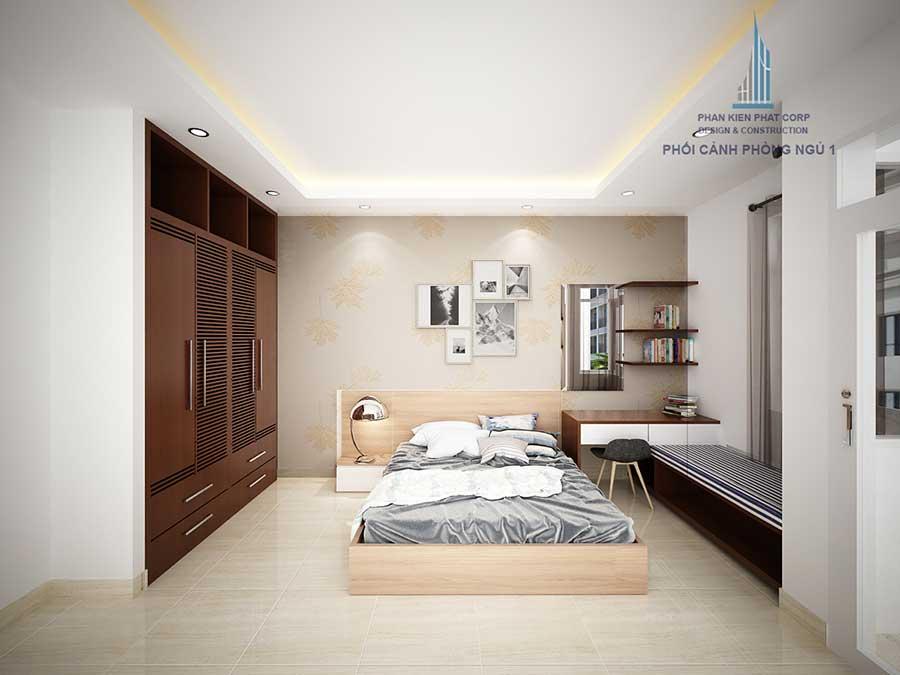 Phối cảnh phòng ngủ 1 góc 1