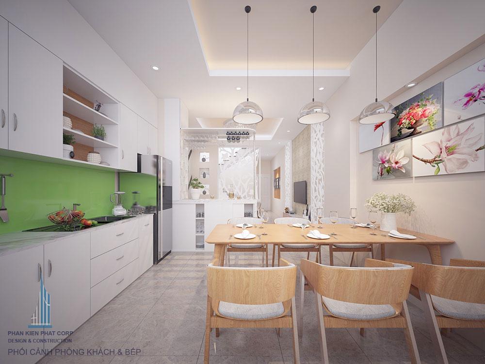 Phòng bếp nhà ống 4 tầng 4x16m