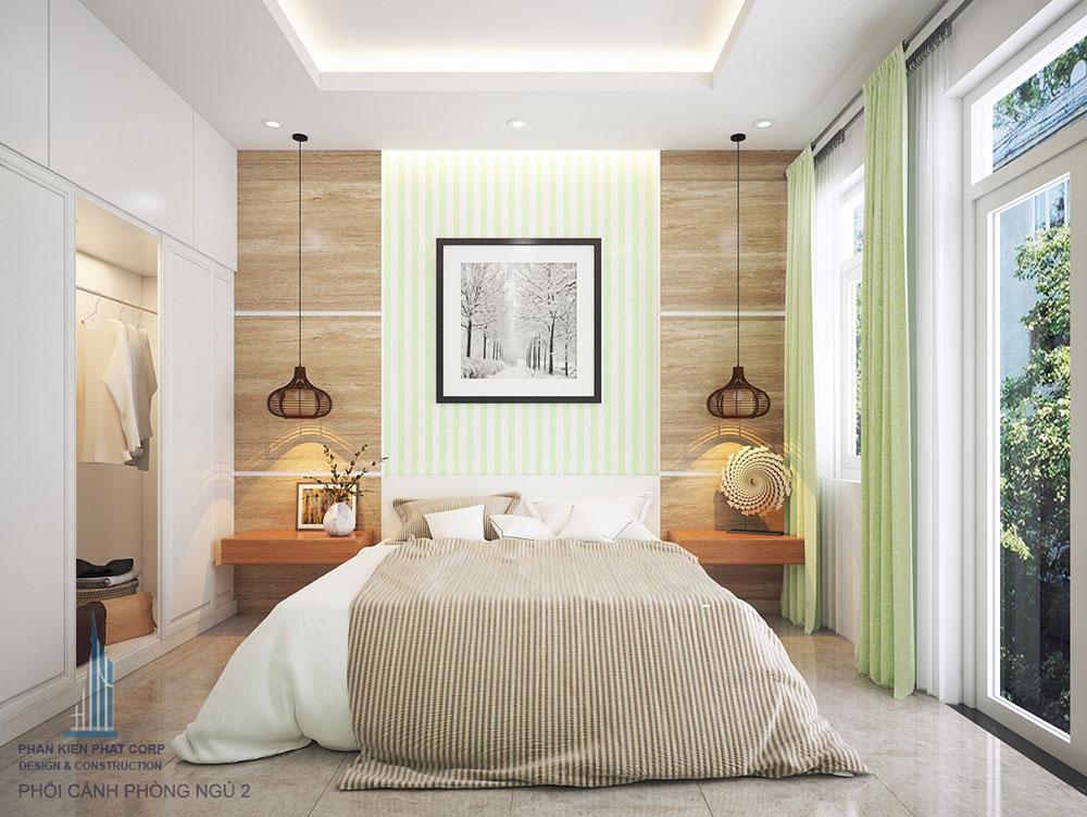 Phòng ngủ 2 view 1 nhà phố đẹp 4 tầng 4x16m