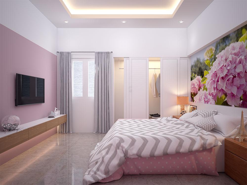 Phòng ngủ 3 view 2 của nhà bán cổ điển 4x16m 4 tầng