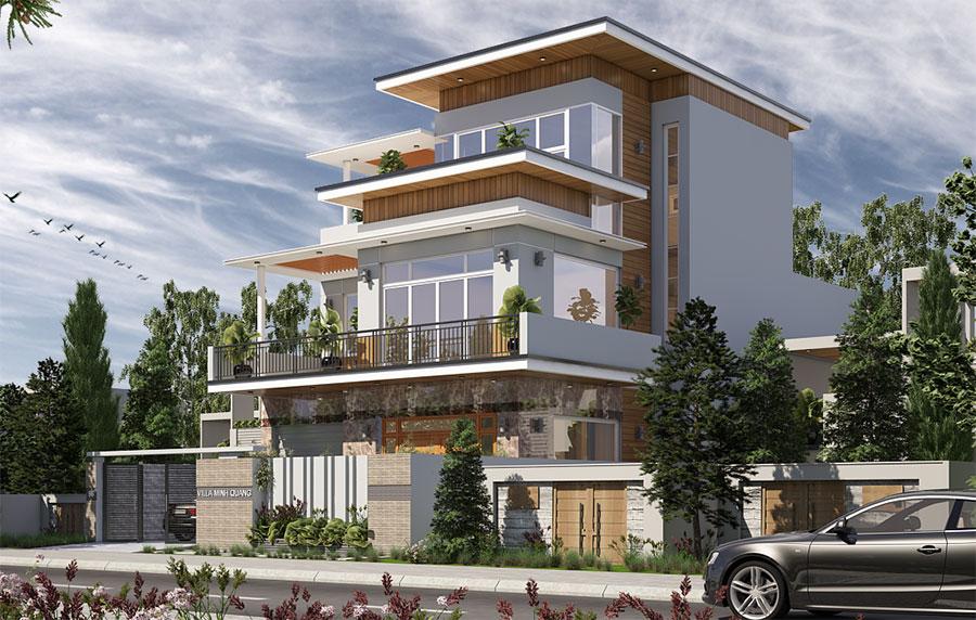 Thiết kế biệt thự hiện đại góc view 2