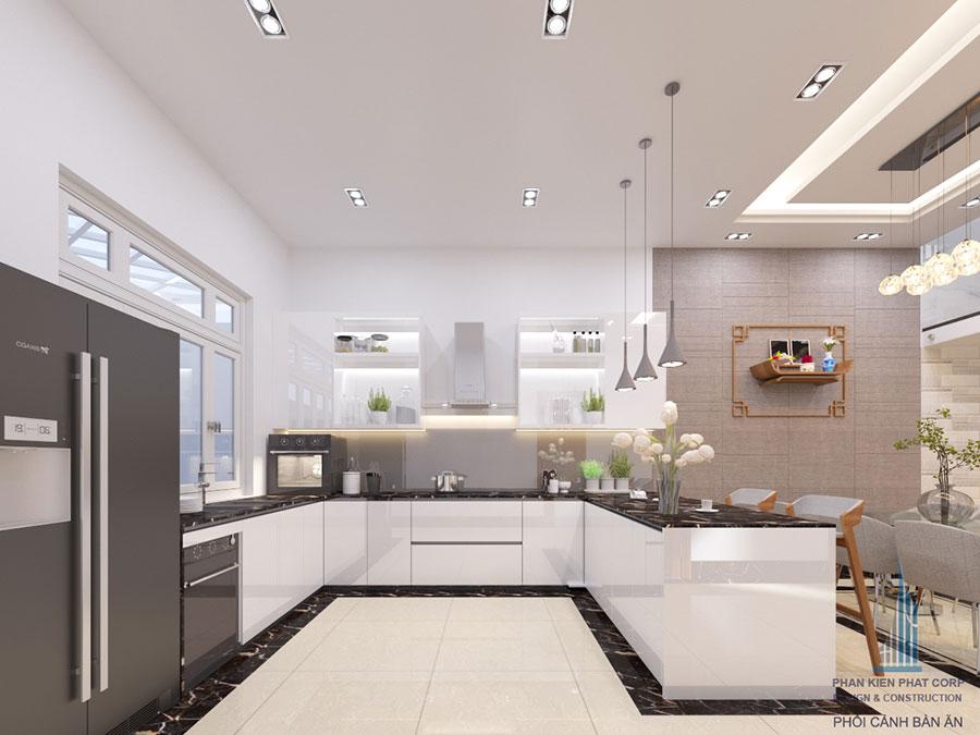 Thiết kế phòng ăn và bếp không gian sang trọng góc view 13