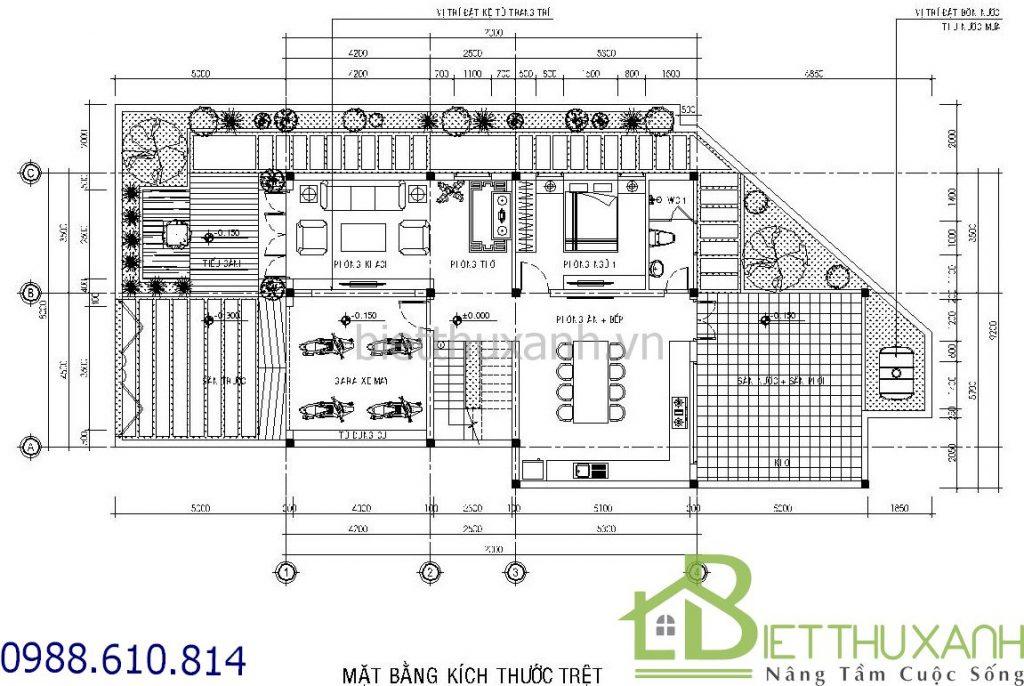 biet-thu-hien-dai - Mẫu biệt thự 3 tầng 8x12m Bến Tre