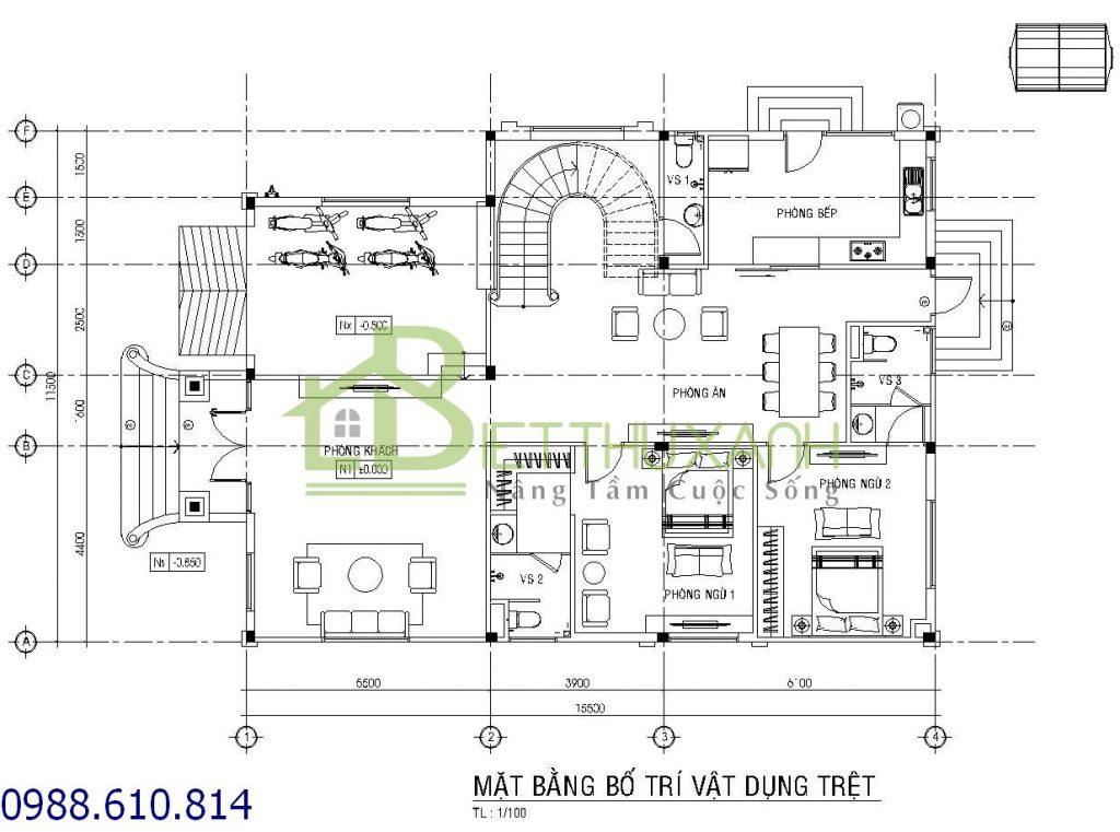 noi-that, biet-thu-ban-co-dien - Biệt thự 2 tầng bán cổ điển 11x16m